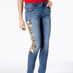 INC Embroidered Jeans